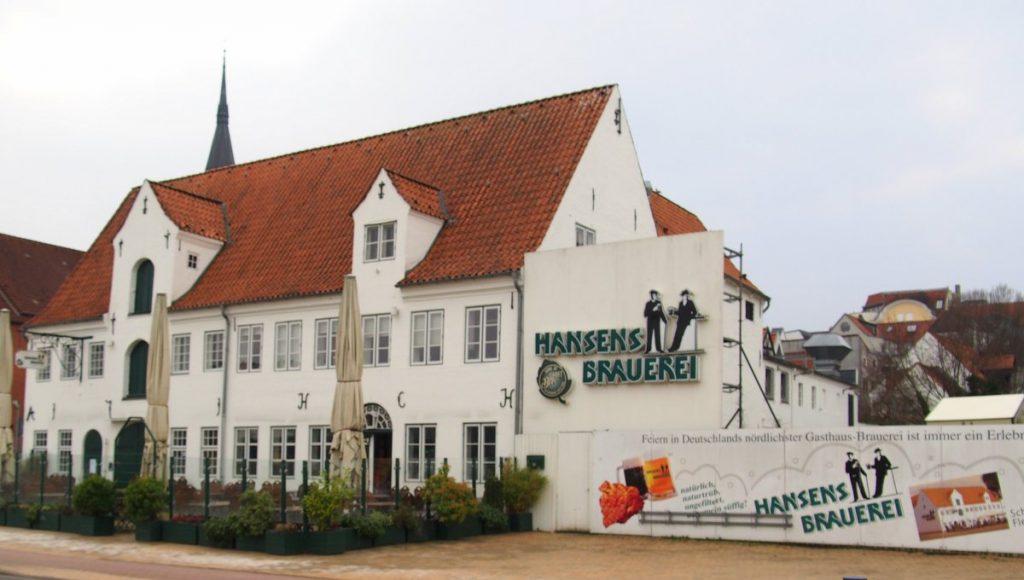 Aussenansicht von Hansens Brauerei in Flensburg an der Förde