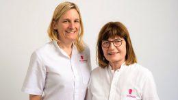 Die Ärztinnen Dr. Sylvie Joos und Dr. Maria Schofer vom Mammascreening Hamburg