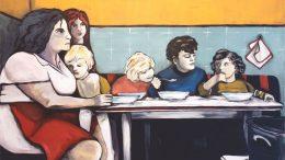 Bild Abendmahl, Familie in der Küche