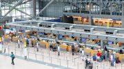 Blick in den Terminal 2 des Hamburger Flughafens