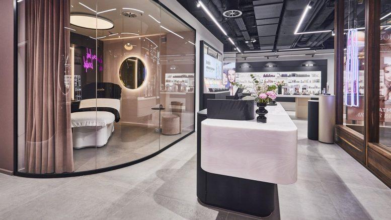 Ein Blick in den BABOR Brand Store Hamburg nach dem Facelift. Foto: BABOR Innenansicht in der Kaisergalerie Hamburg