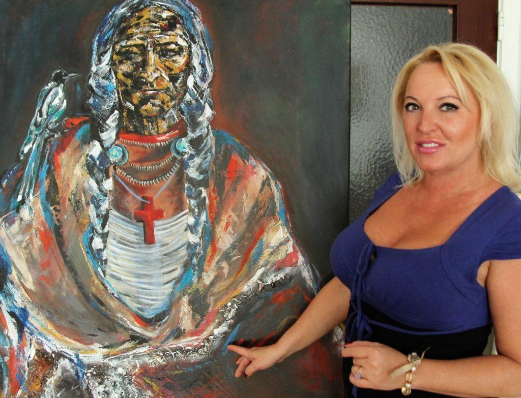 Daniela Teodora Beck mit Arbeit Samurai