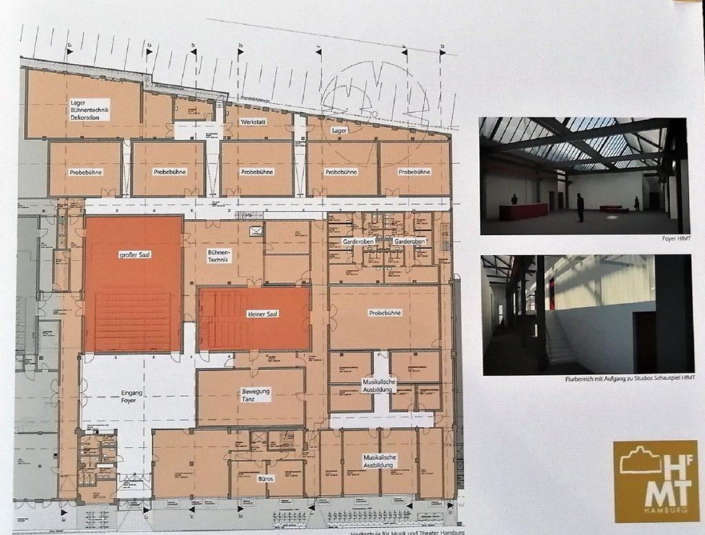 Barmbeker Bauplan der Hochschule für Musik und Theater