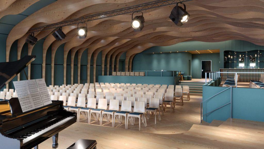 Die im Bau befindliche Jazzhall