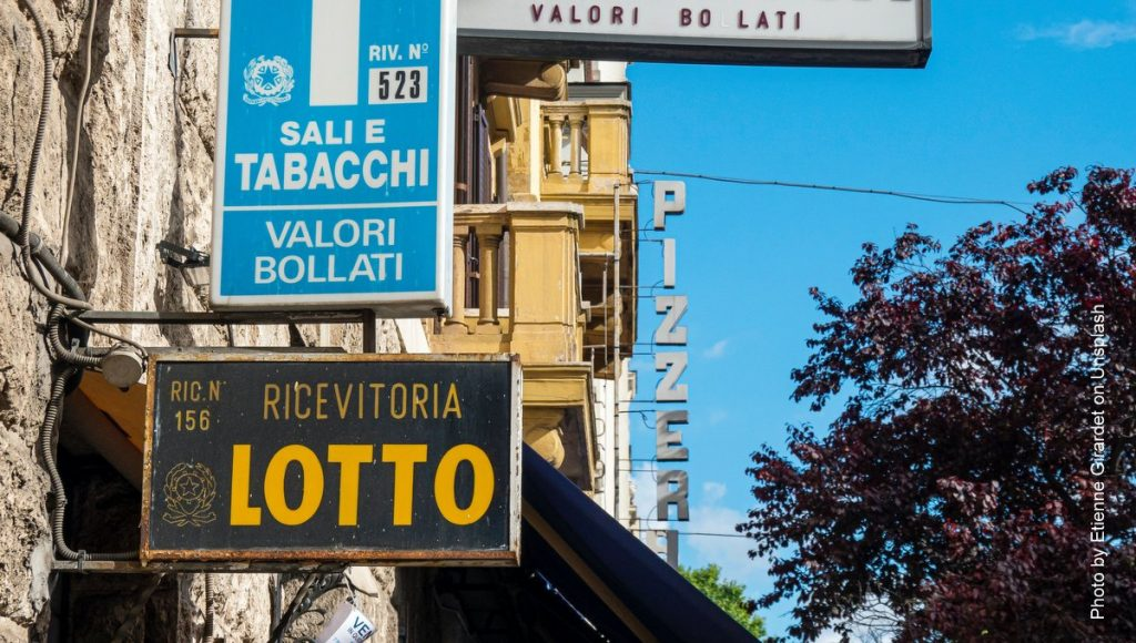 Wettbüro in Italien