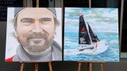 Portrait Boris Herrmann und Segleboot