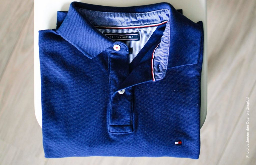 Blaues Hilfiger Polo Shirt