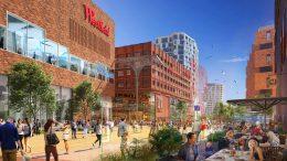 Simulationsbild des West Pberseequartie HafenCity Hamburg