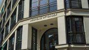 Eingang vom Ensemble Westend in Hamburg Ottensen