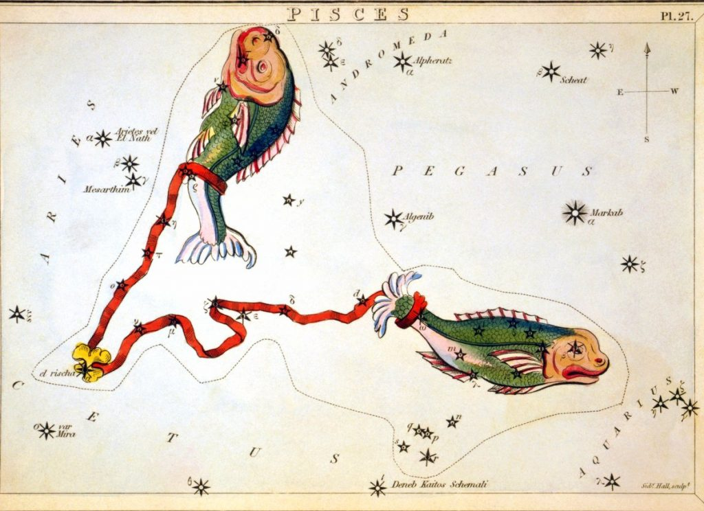 Alte Darstellung Sternzeichen Fische