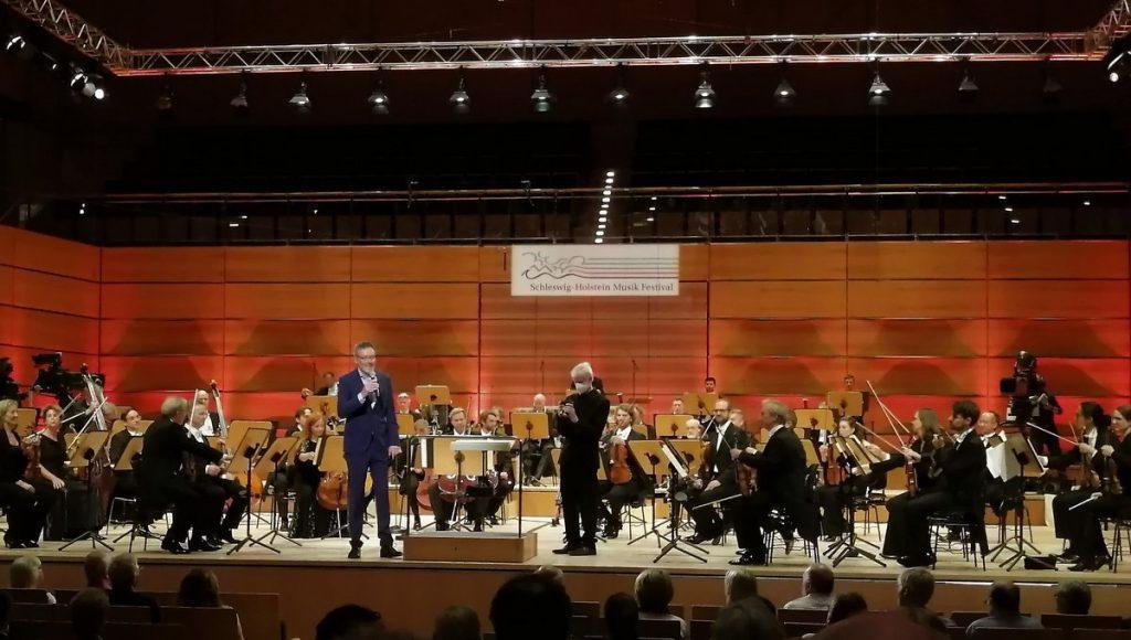 Eröffnung Klassik, Schleswig-Holstein Musik Festival in Lübeck in der Musik und Konzerthalle