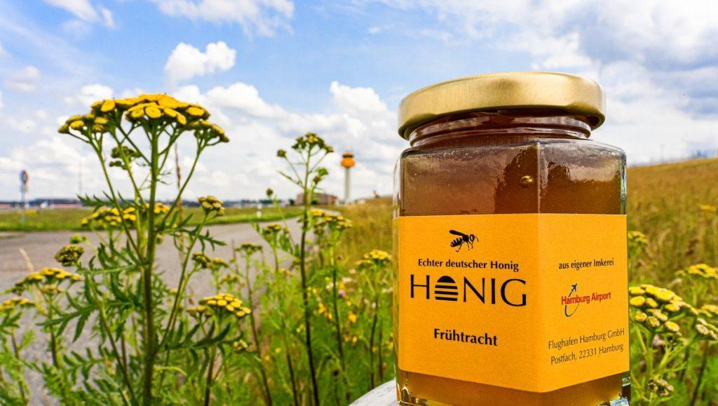 ein Glas Flughafen Honig