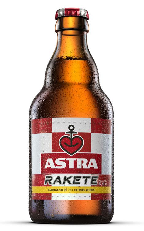 Steiniflasche Astra Rakete