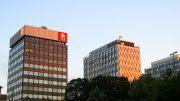Hamburg Esplanade drei Hochhäuser in der Abendsonne