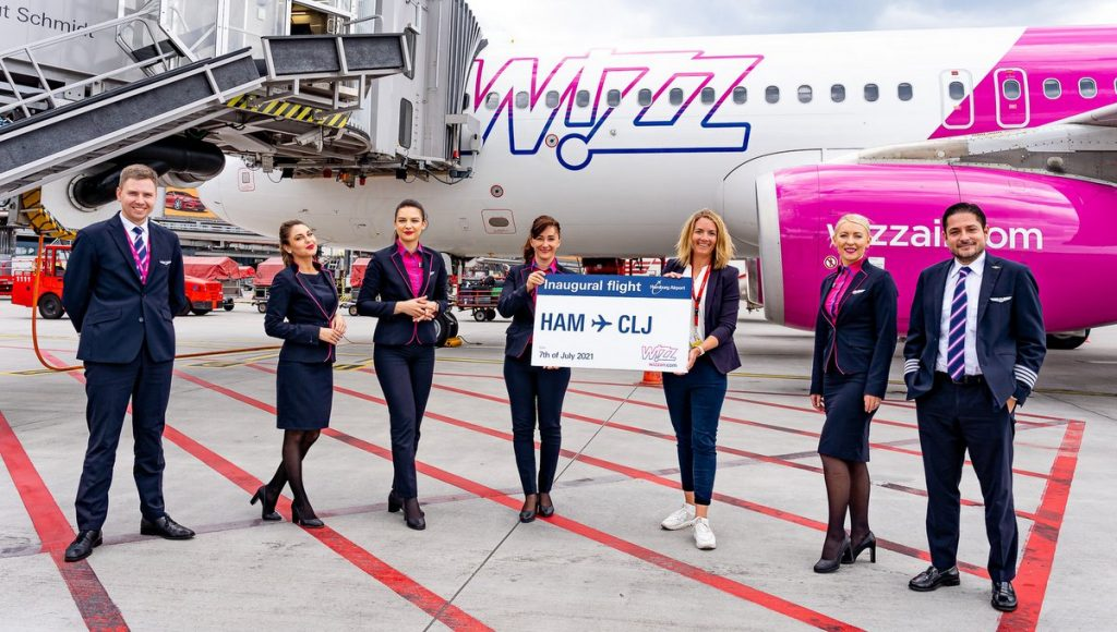 Offizielles Abflugfoto Hamburger Airport nach Cluj mit Wizz Ari