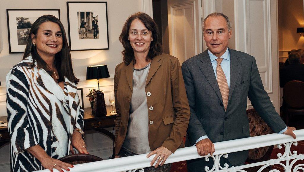 Im Anglo-German Club: Stefanie Stoltzenberg-Spies, Dr. Katarina Barley, Dr. Sebastian Kühl