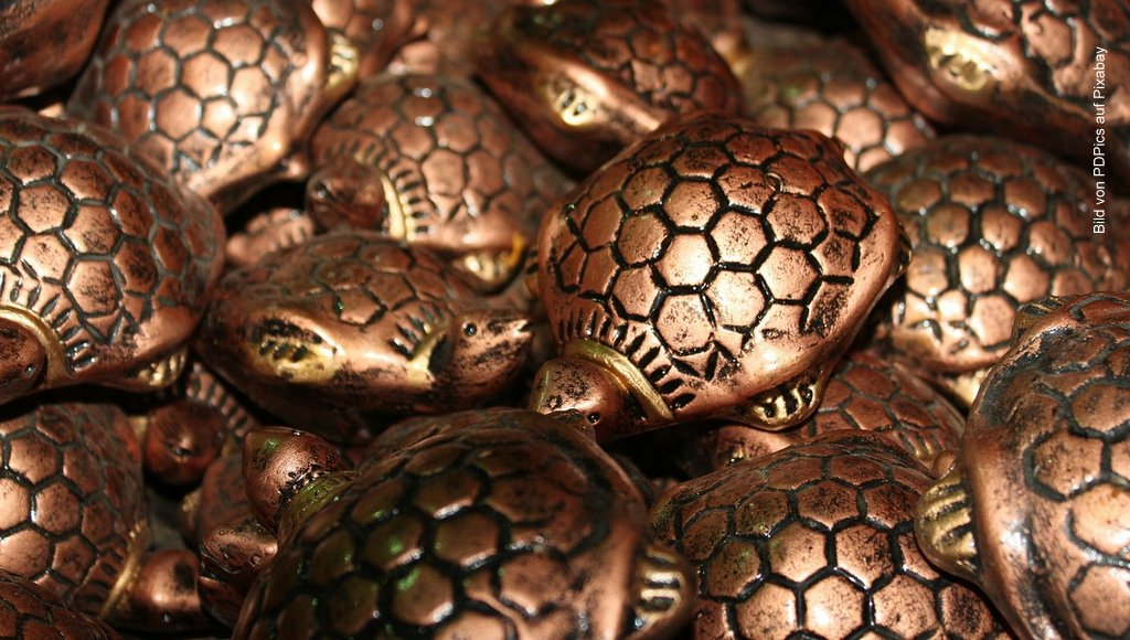 Schildkröten aus Metalll