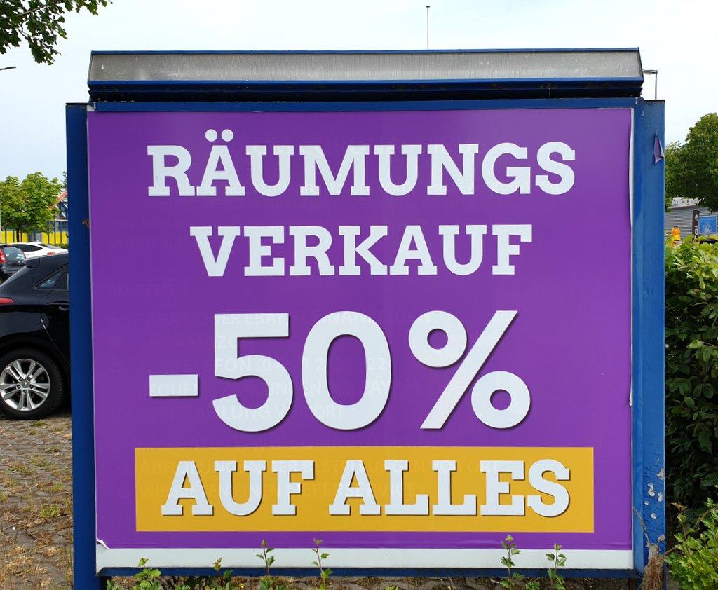 Poster Räumungsverkauf