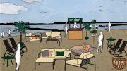Skizze der stilwerk Strandbar in hamburg Blankenese