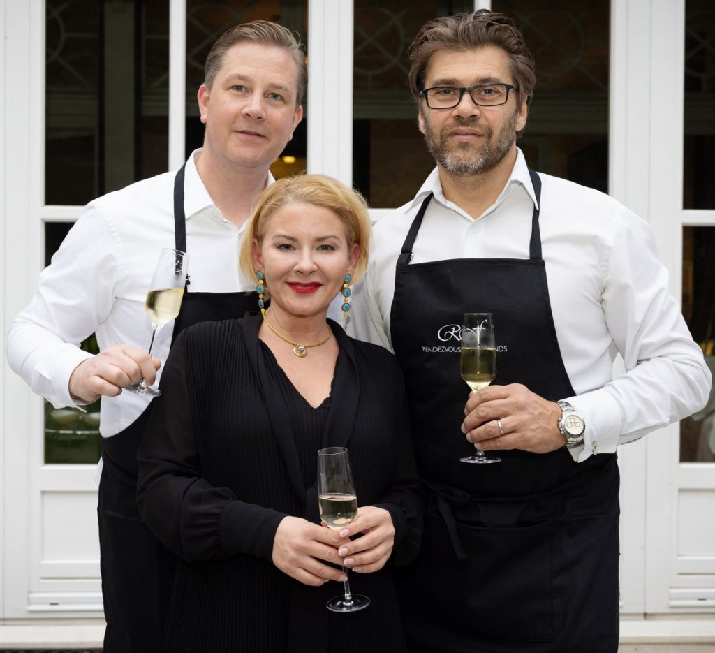Gruppenaufnahme: Christian Dunger, Stefanie Volkmer-Otto, Gunnar Henk
