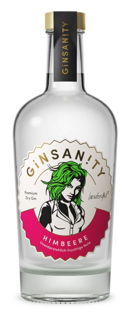 500 ml Flasche Ginsanity Himbeere