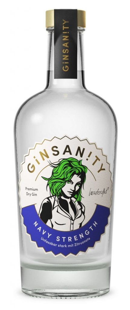 Flasche 500 ml Ginsanity Navy extra strong