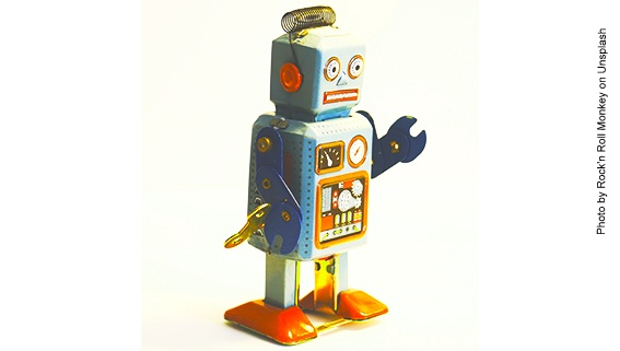 Vintage Roboter aus Blech aus den 1950er Jahren