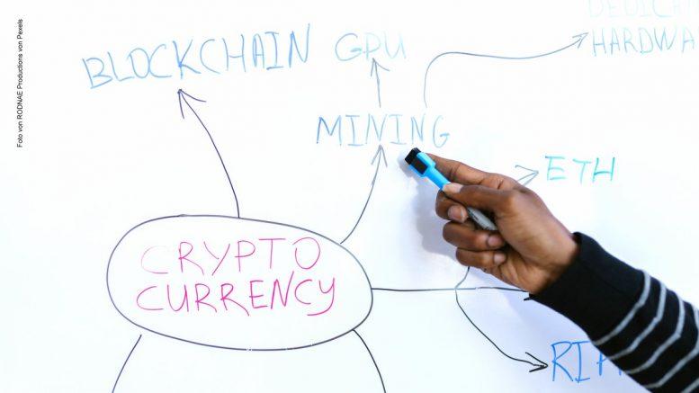 White Board Krypto-Währungen