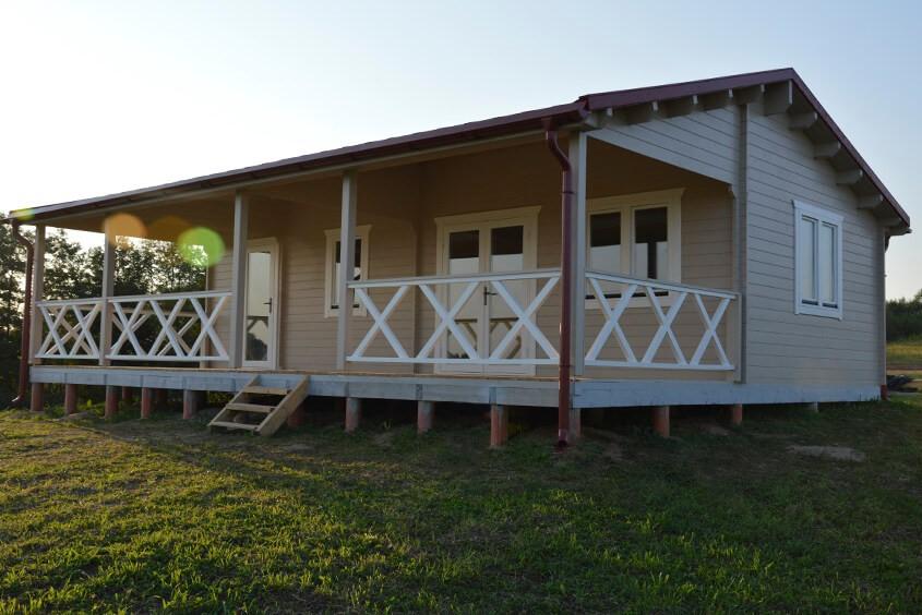 Holzhaus auf Punktfundamenten