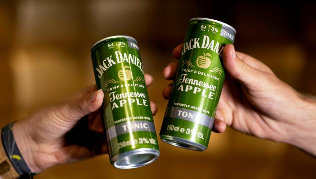2 JACK DANIEL'S Tennessee Apple Drink Dosen
