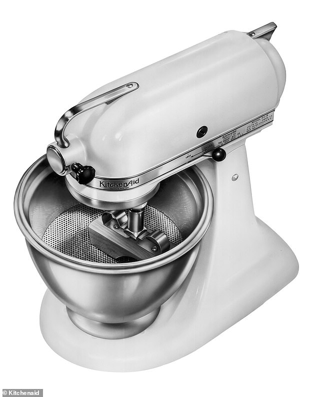 Alte weiße Kitchenaid Küchenmaschine aus den 1930er Jahren