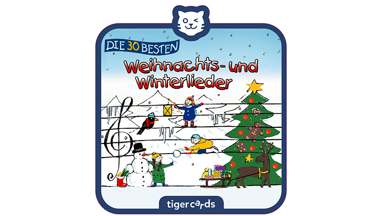 Cover Weihnachtslieder Tigercards