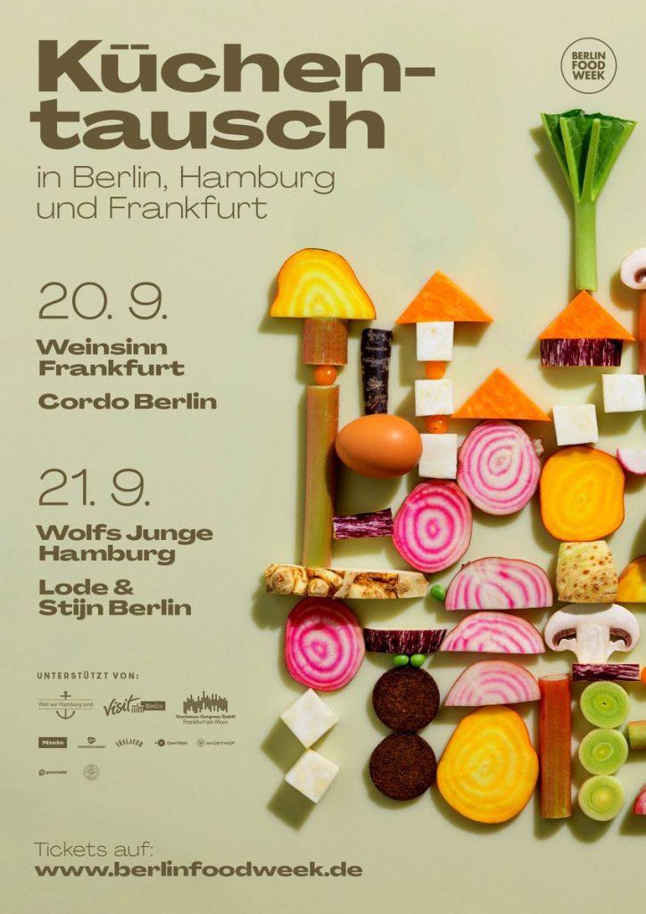 Plakat Köchetausch und Küchentausch