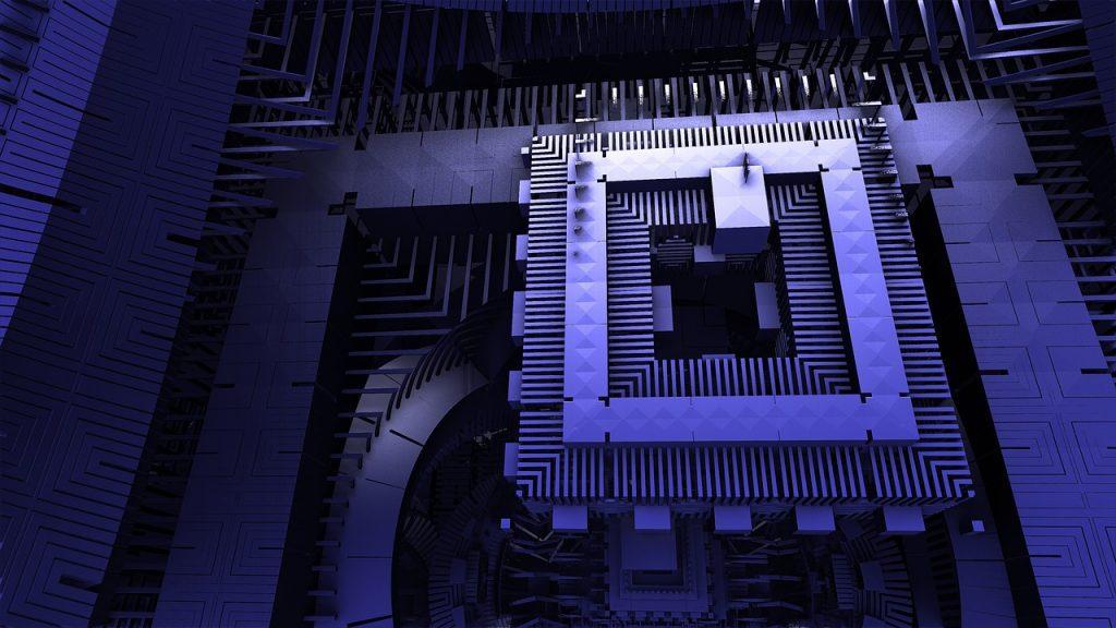 Prosessor eines Quantencomputer