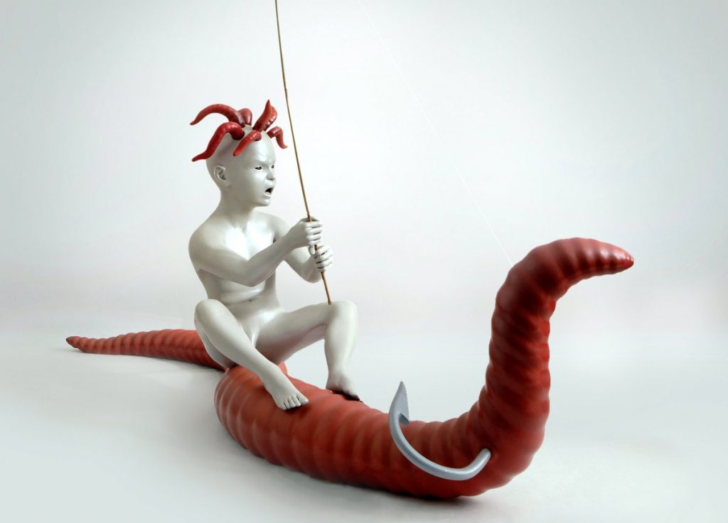 Skulptur Medusa Child