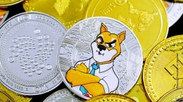 Kryptomünzen mit einem Fuchs als Comicfigur