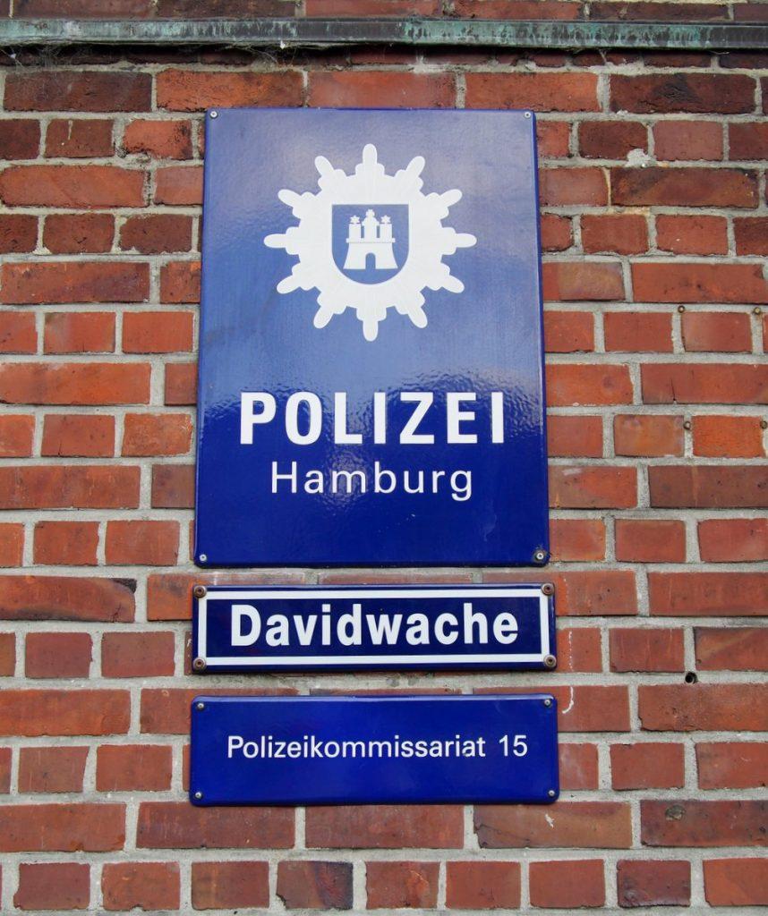 Schild Davidwache Hamburg