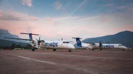 Zwei Sky Alpes Flugzeuge