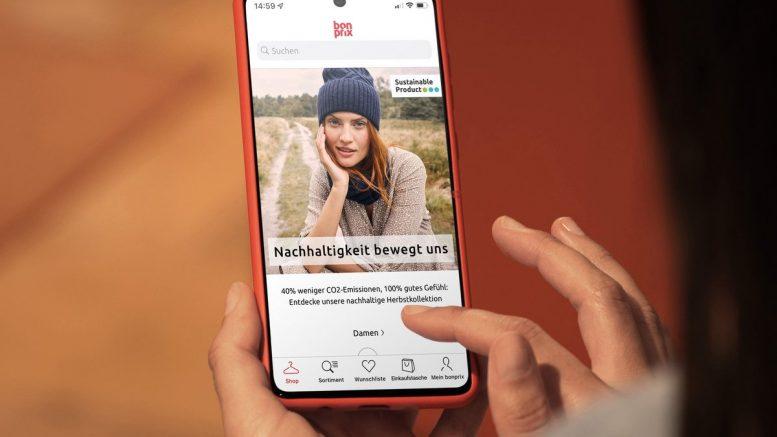Smartphone mit bonprix App